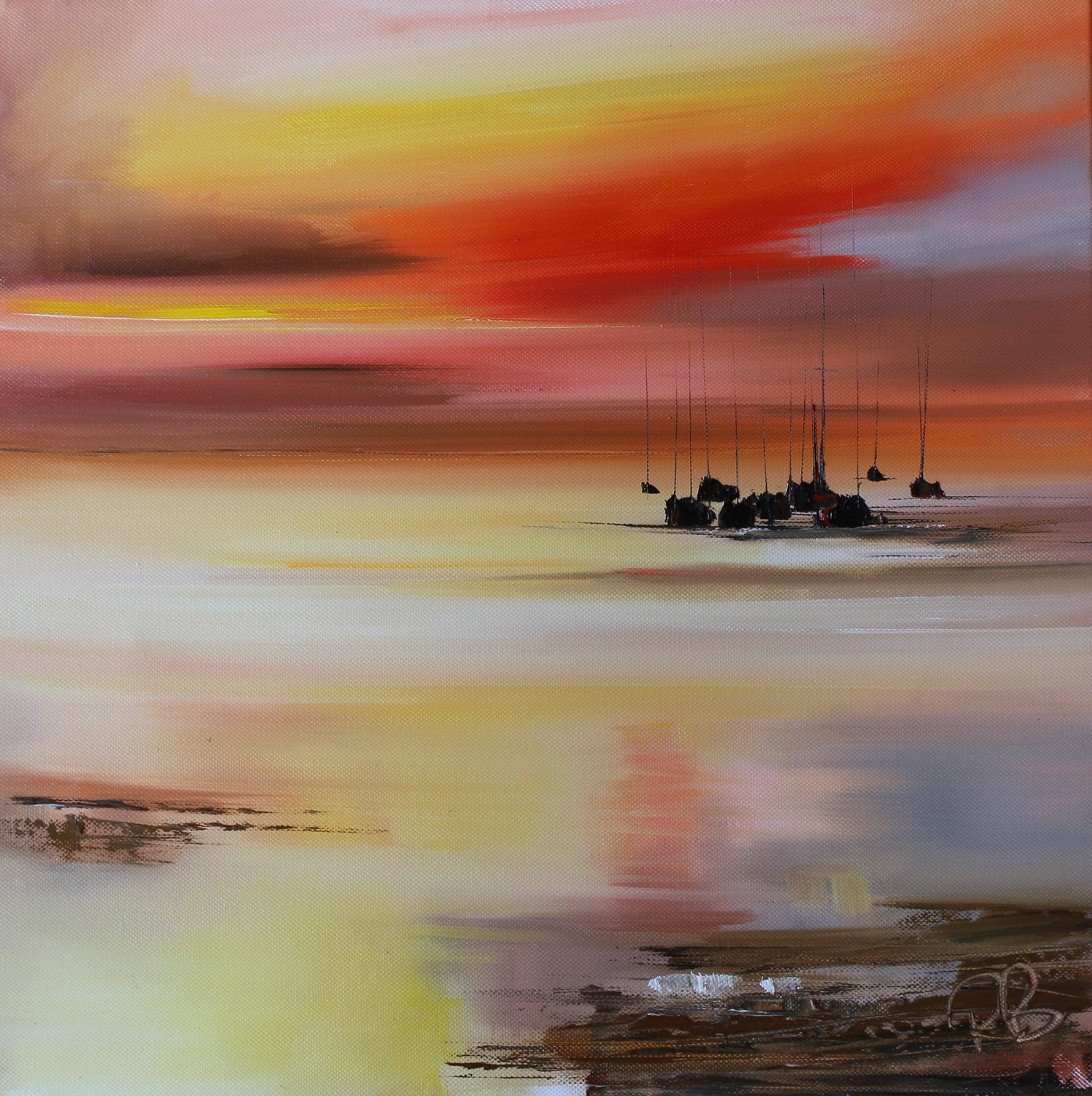 'Calm on the Western Coast' by artist Rosanne Barr