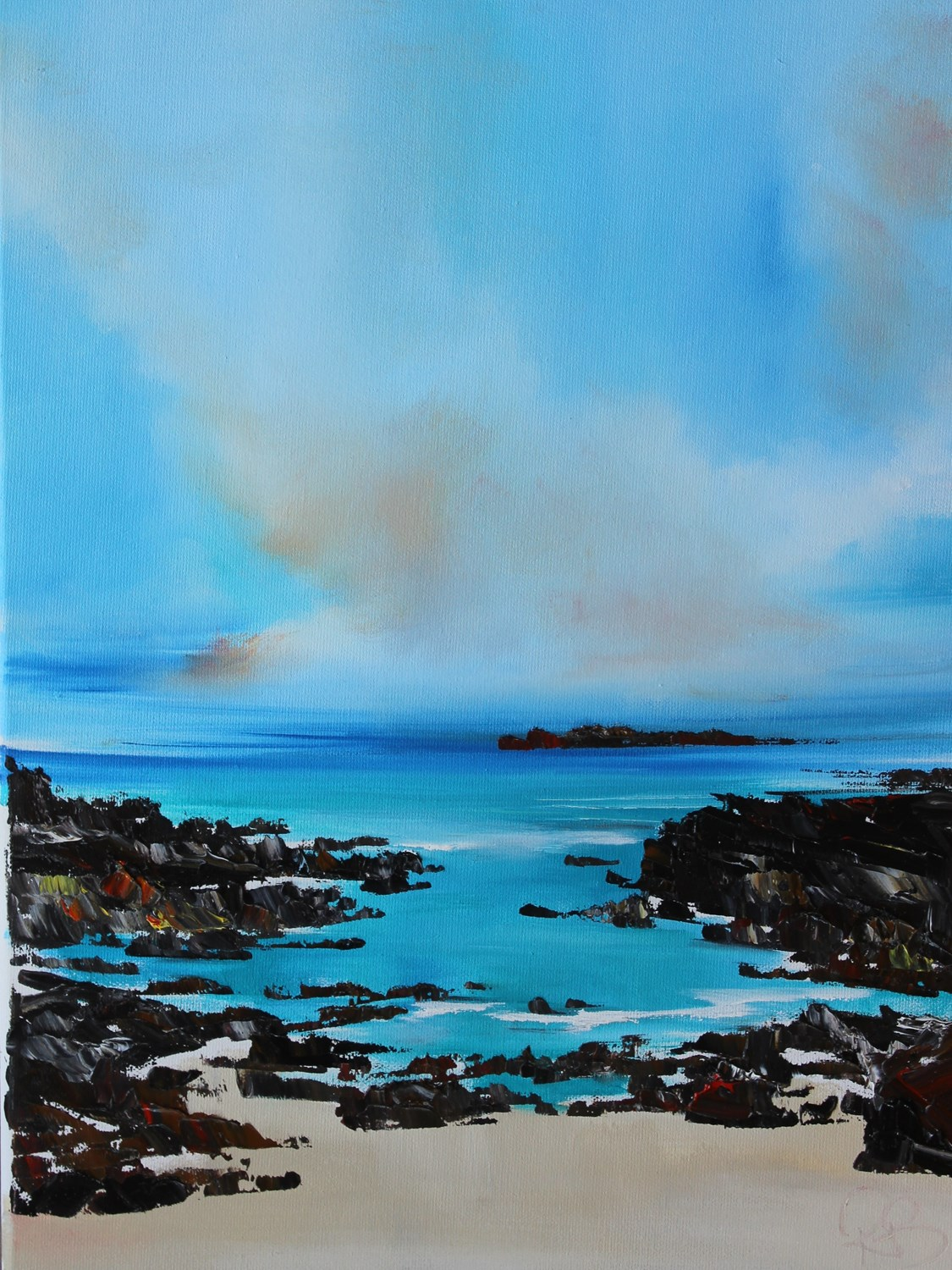 'Scattered Rocks ' by artist Rosanne Barr