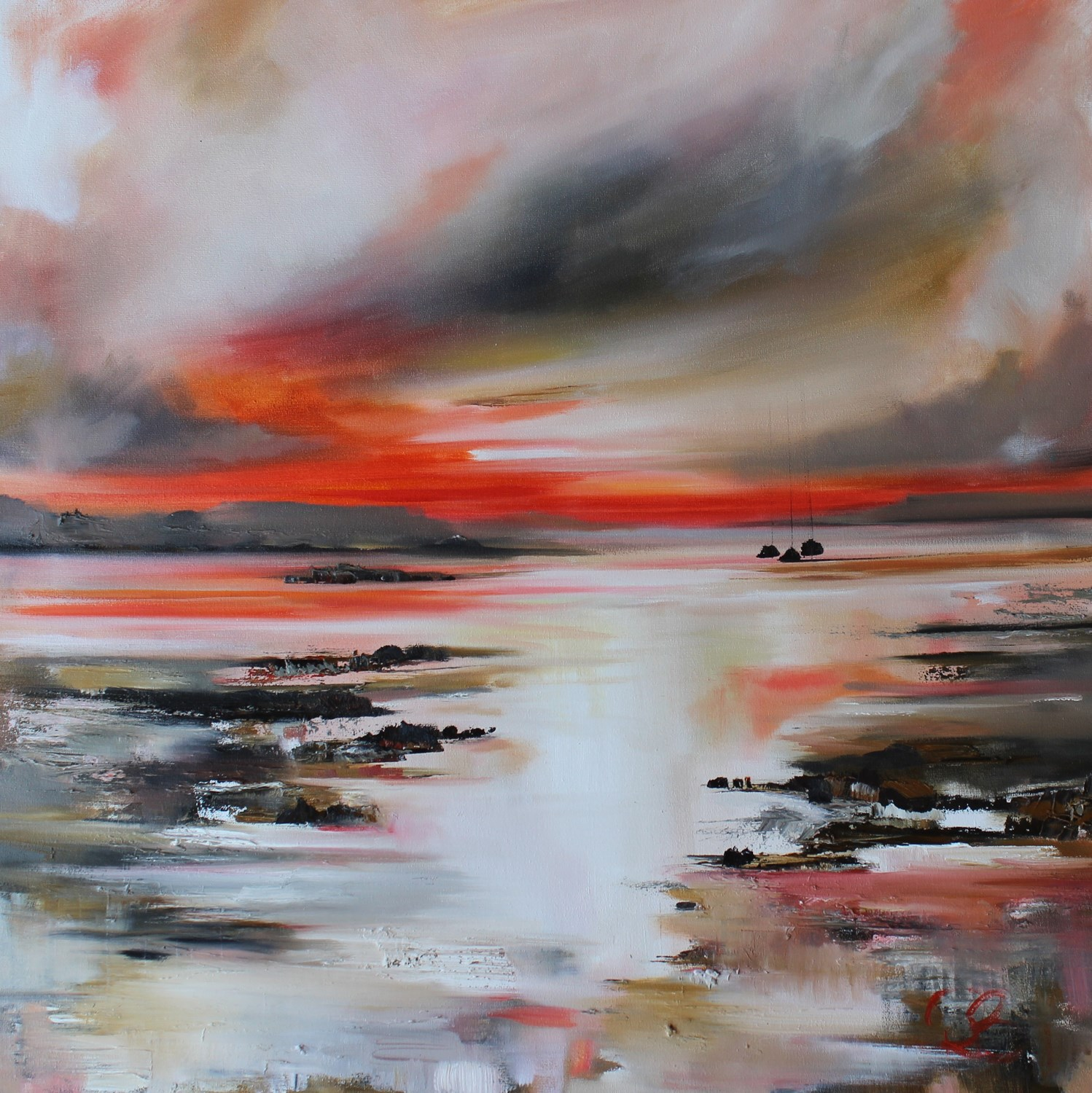 'Sudden Sunset' by artist Rosanne Barr