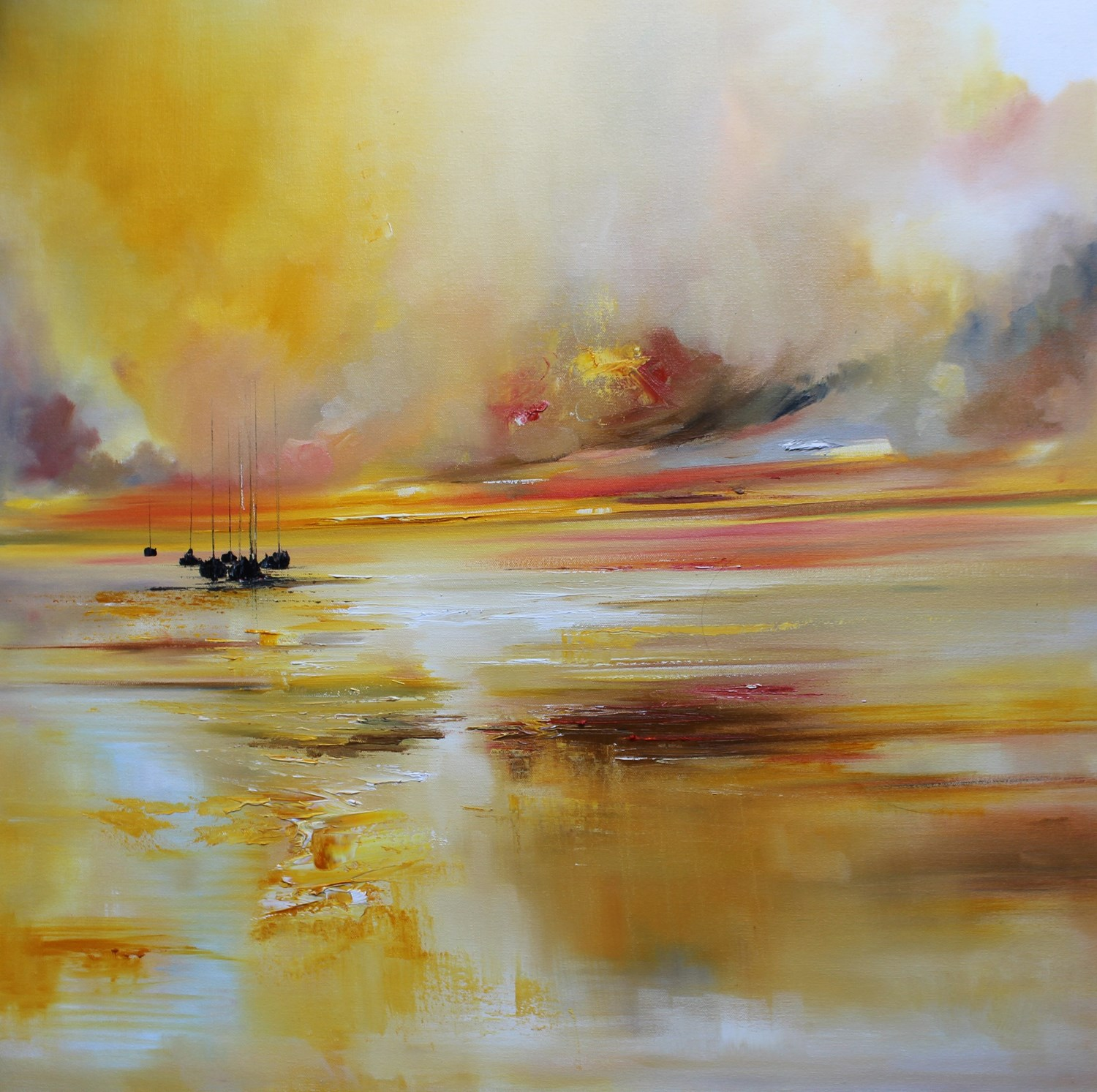 'A Burst of Gold Light' by artist Rosanne Barr