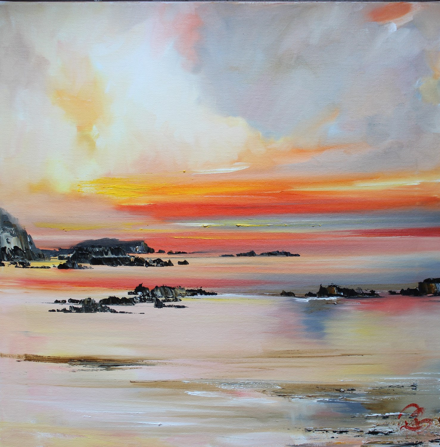 'Clouds lit by sunset' by artist Rosanne Barr