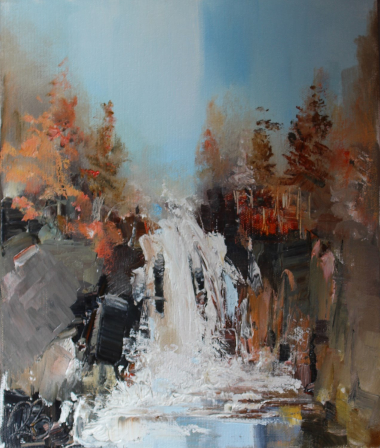 'Finding the hidden falls ' by artist Rosanne Barr