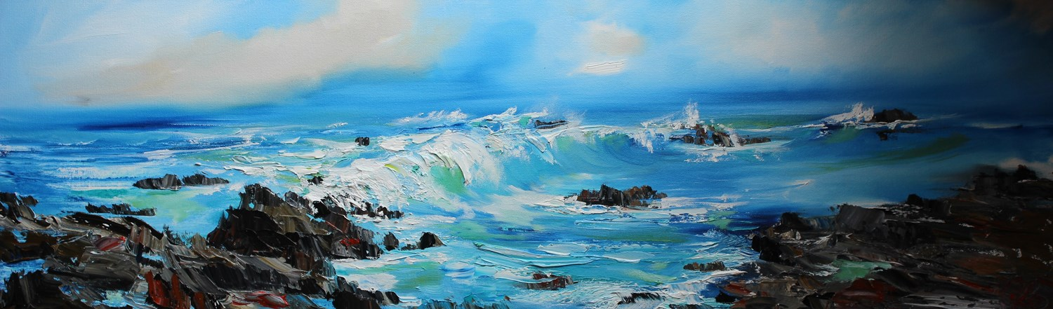 'Waves gaining pace' by artist Rosanne Barr