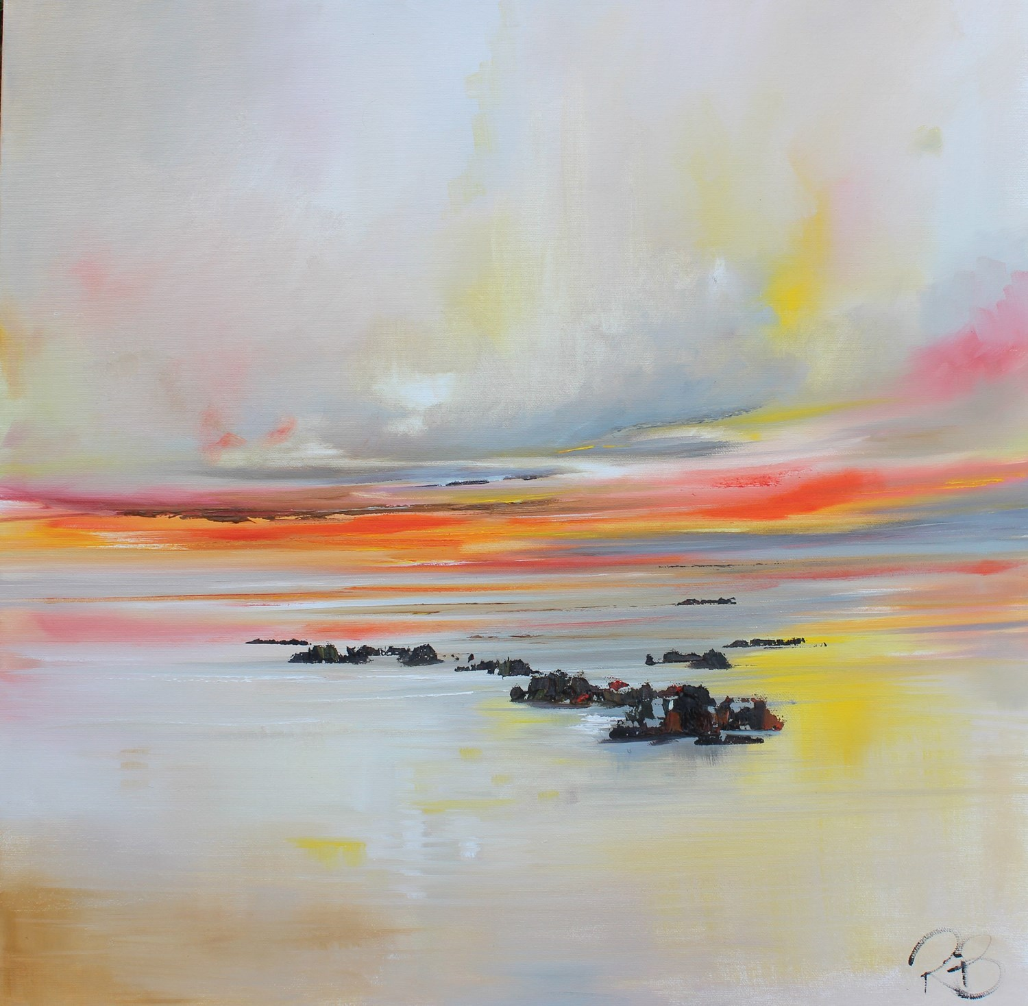 'Waiting on the Tide to turn' by artist Rosanne Barr