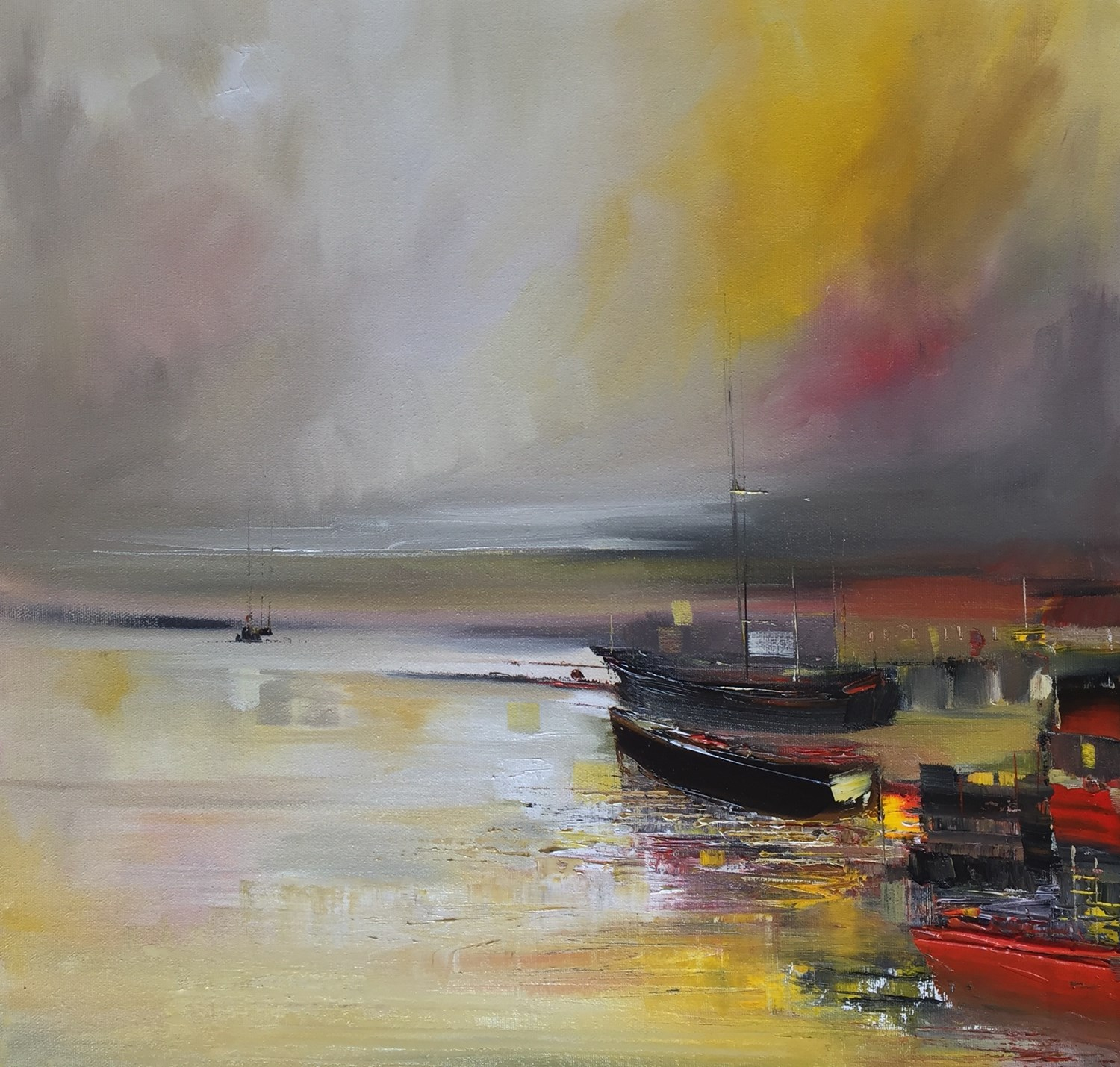 'Harbour Nights ' by artist Rosanne Barr