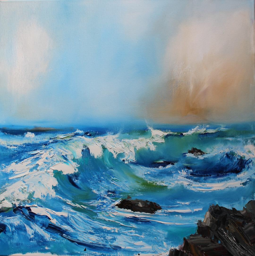 'Atlantic Waves' by artist Rosanne Barr