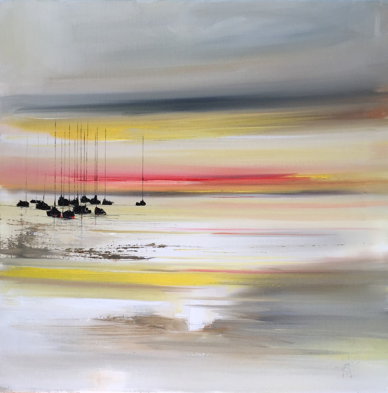 'Docked whist the Sunsets' by artist Rosanne Barr