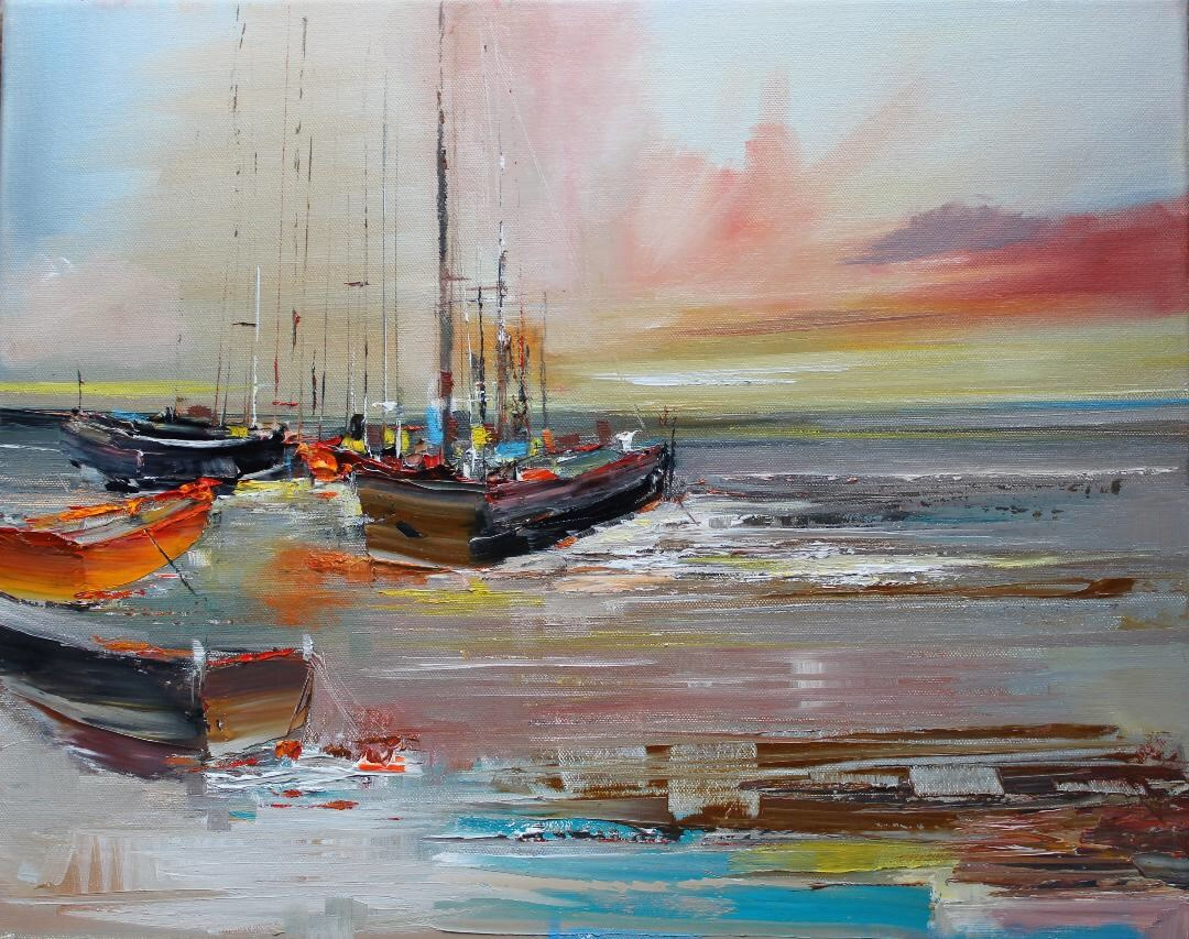 'Abandoned Boats' by artist Rosanne Barr