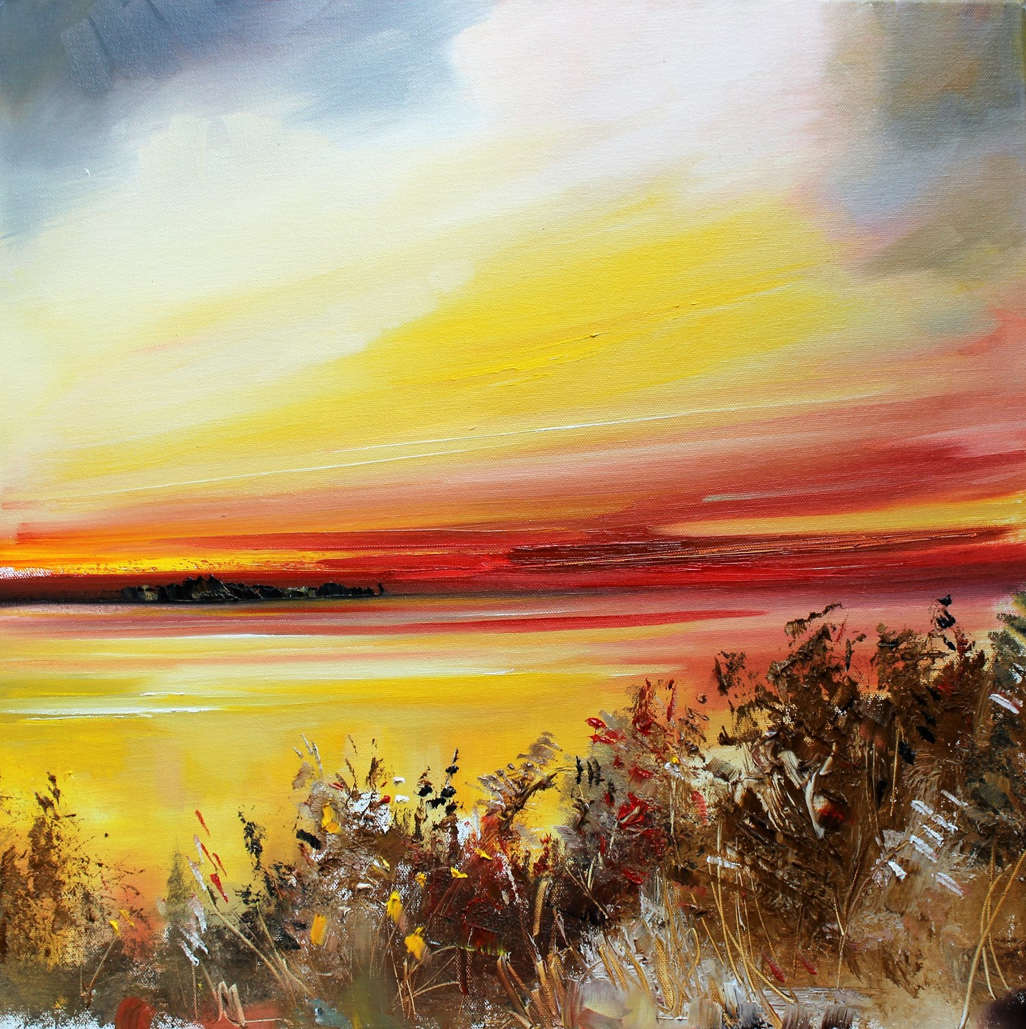 'Warm Afterglow' by artist Rosanne Barr