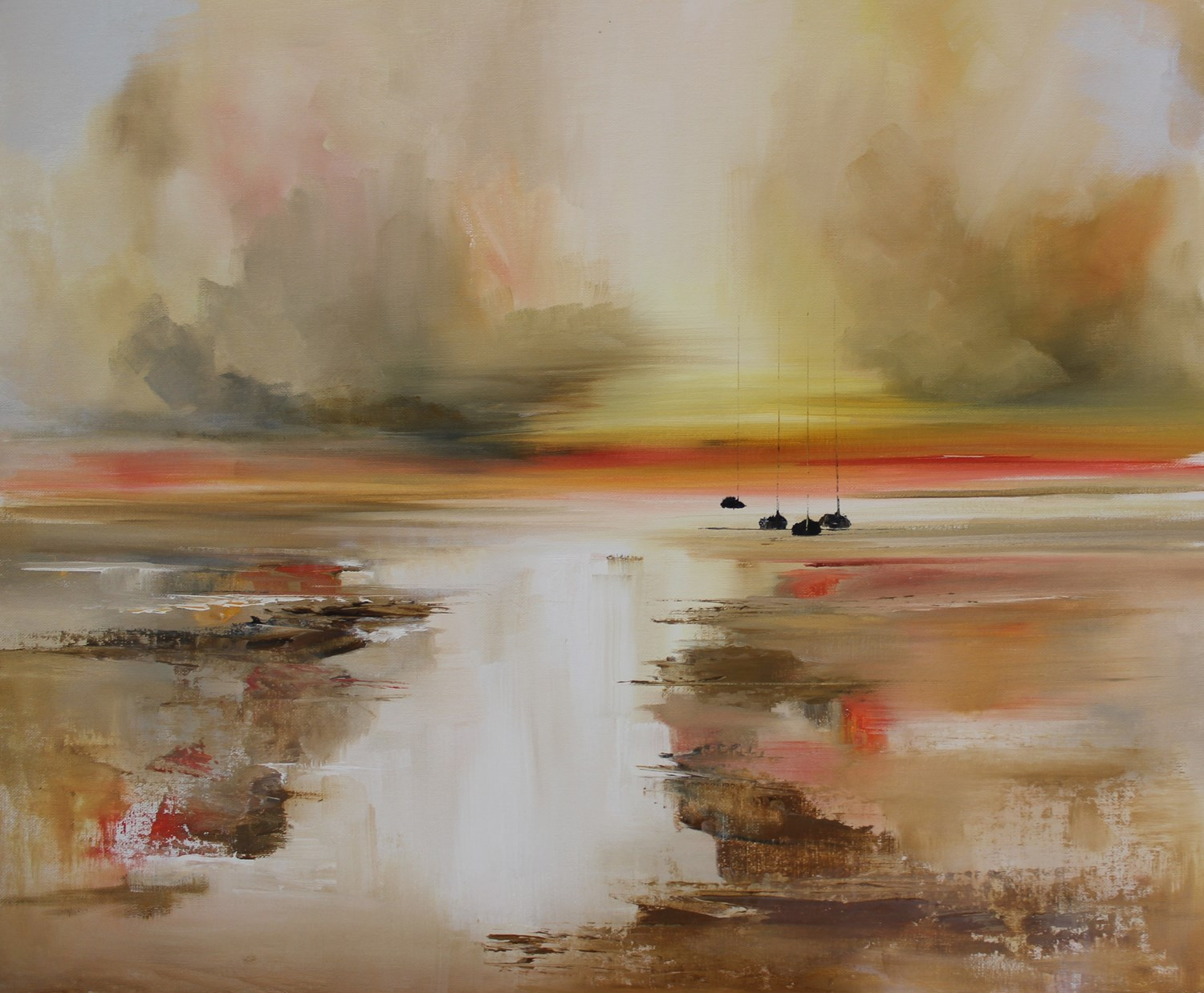 'Sun dipping on the horizon ' by artist Rosanne Barr