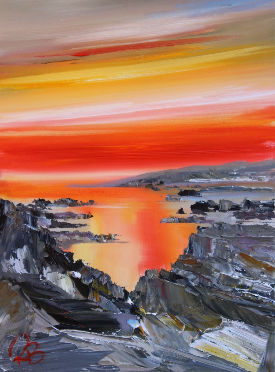 'Bright, Bold Sunset' by artist Rosanne Barr
