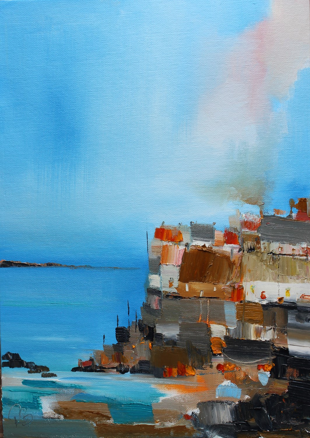 'Homes with a View - available to buy at https://www.britishcontemporary.art/rosanne-barr/' by artist Rosanne Barr