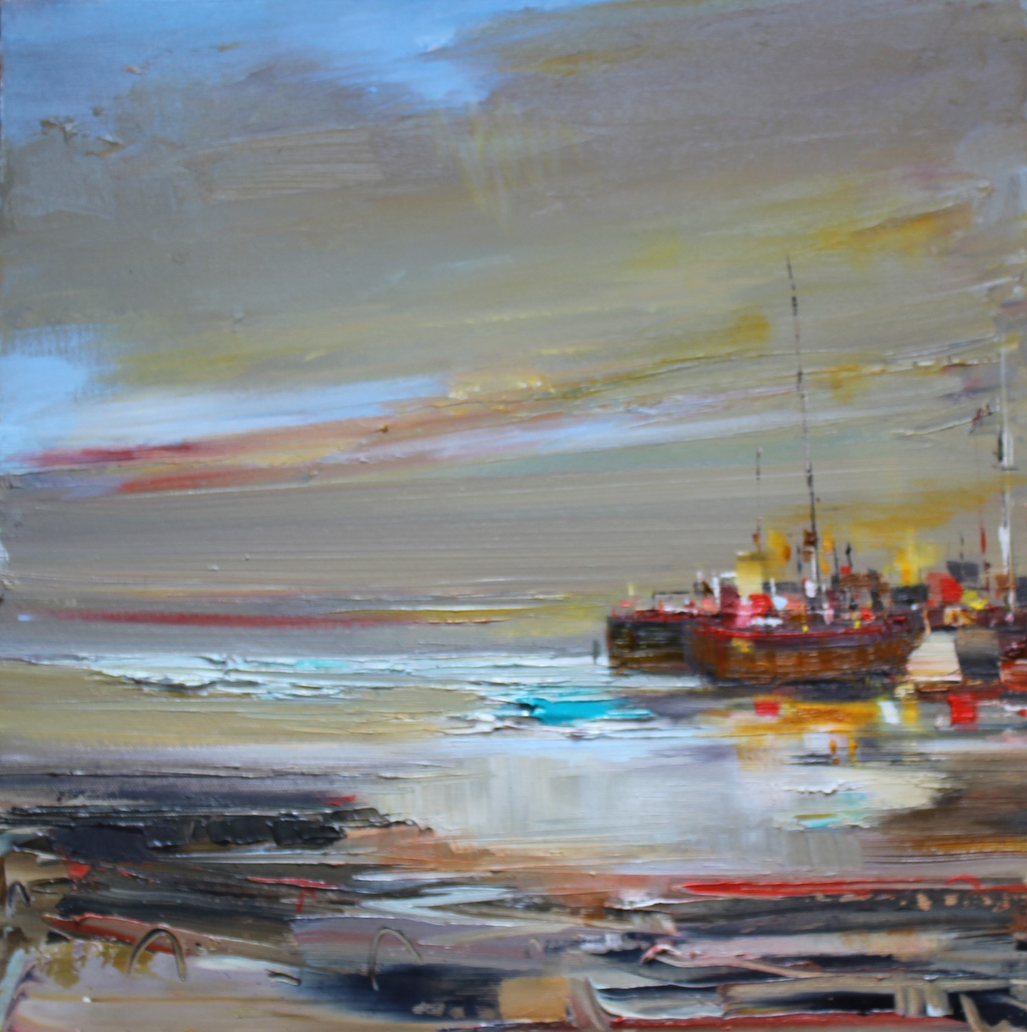 'Harbour by Moonlight' by artist Rosanne Barr