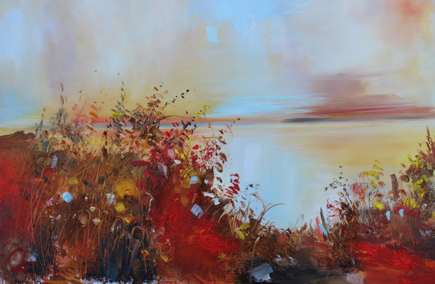 'Through bracken and wild reeds' by artist Rosanne Barr