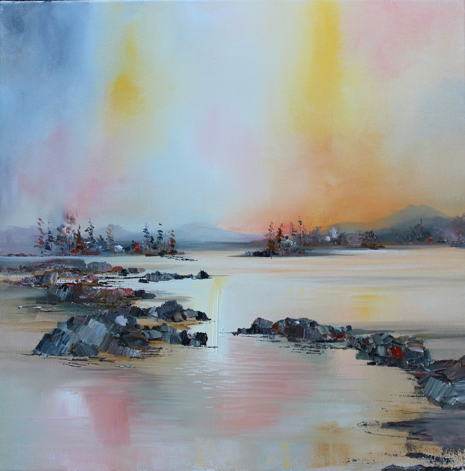 'Still moment by the Loch' by artist Rosanne Barr
