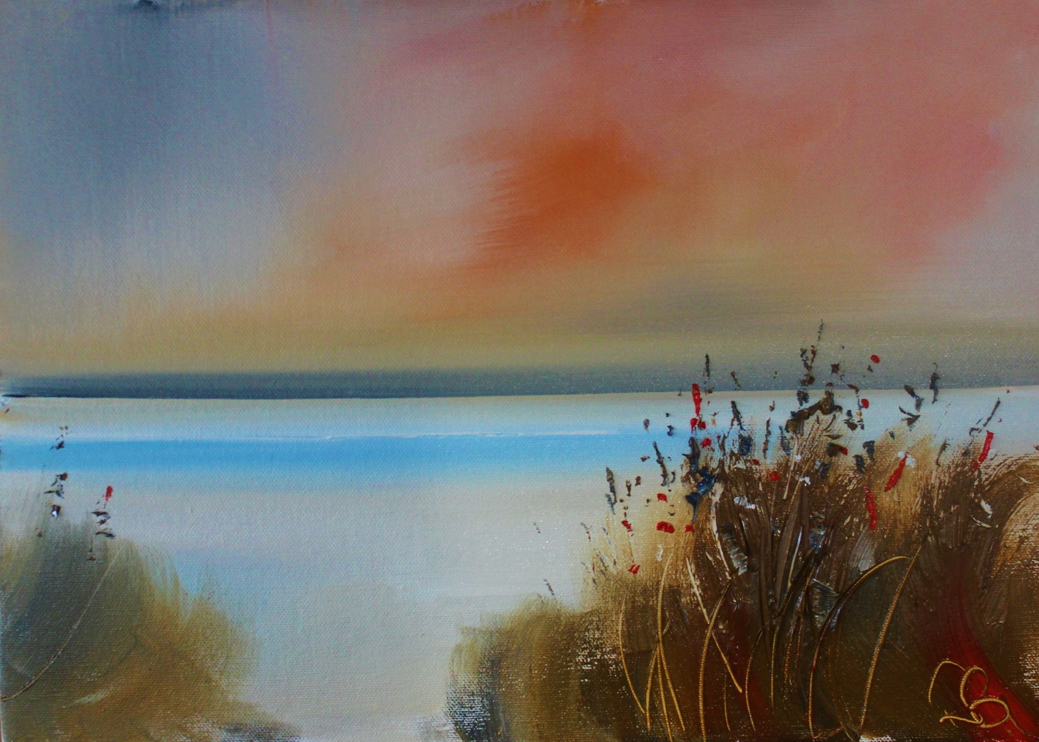 'Through the Rushes' by artist Rosanne Barr
