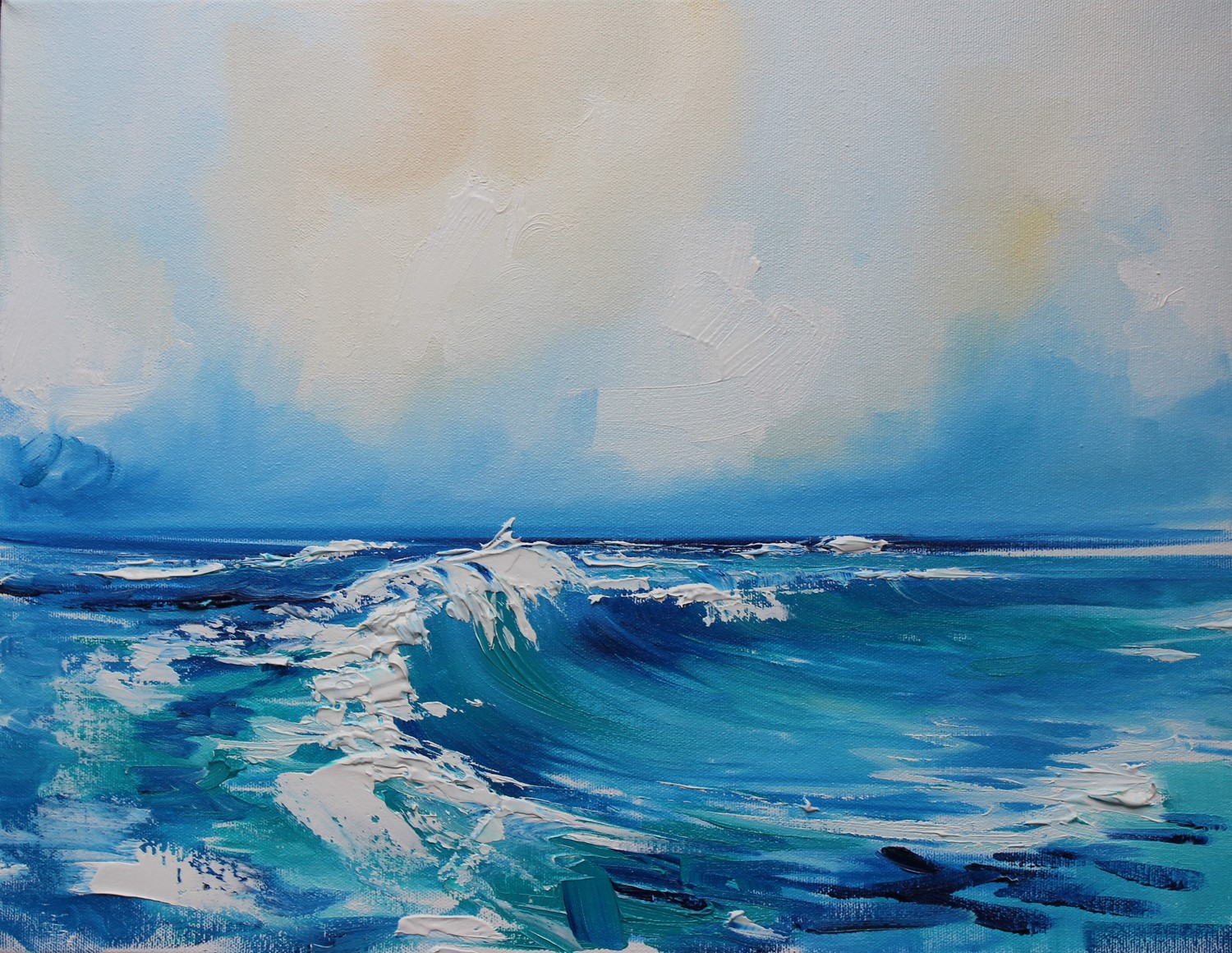 'Curving Wave' by artist Rosanne Barr