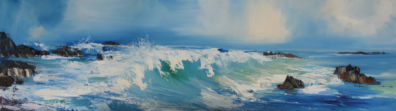 'The waves roll in' by artist Rosanne Barr