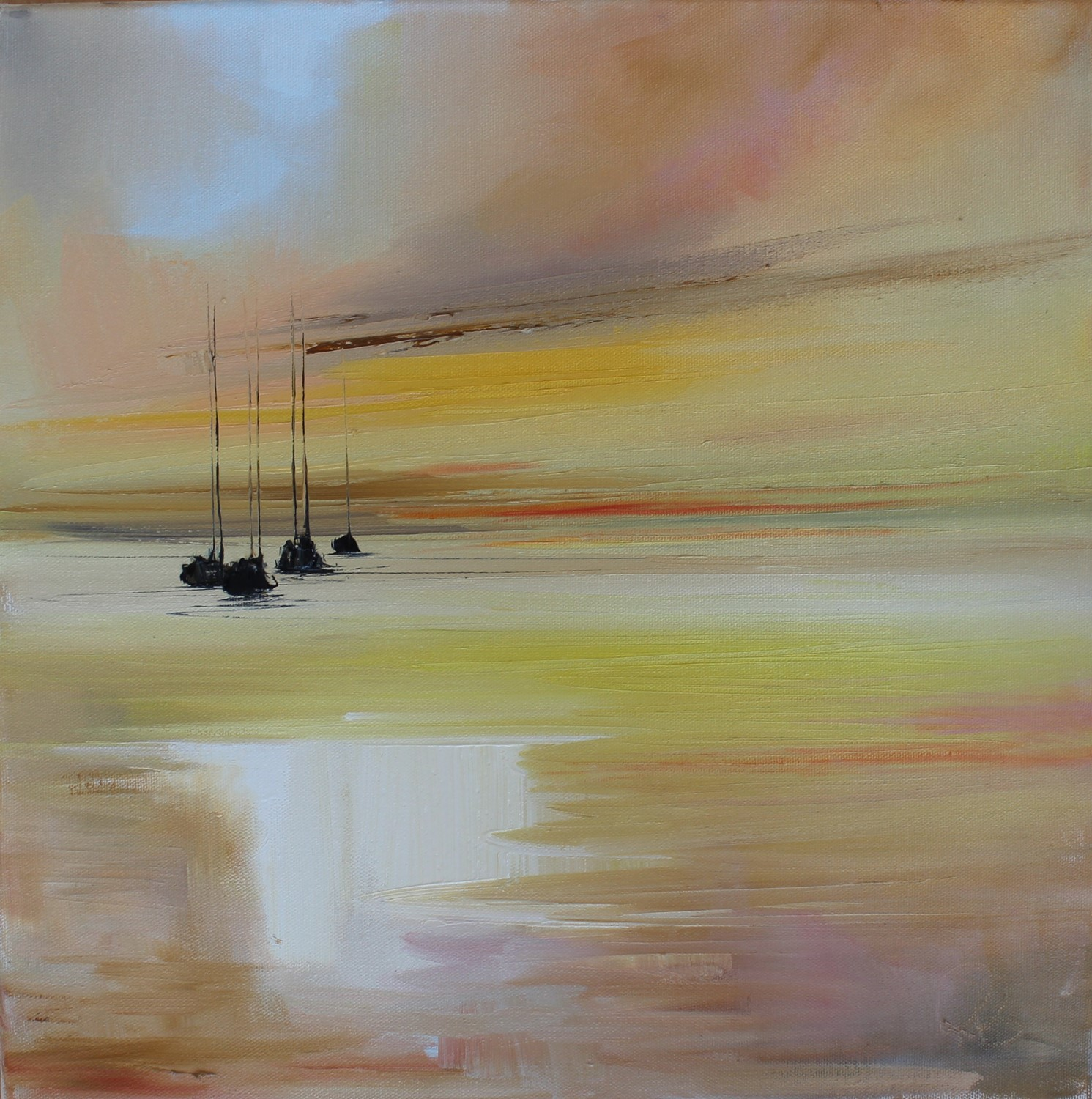 'Four Yachts as the Sunsets ' by artist Rosanne Barr