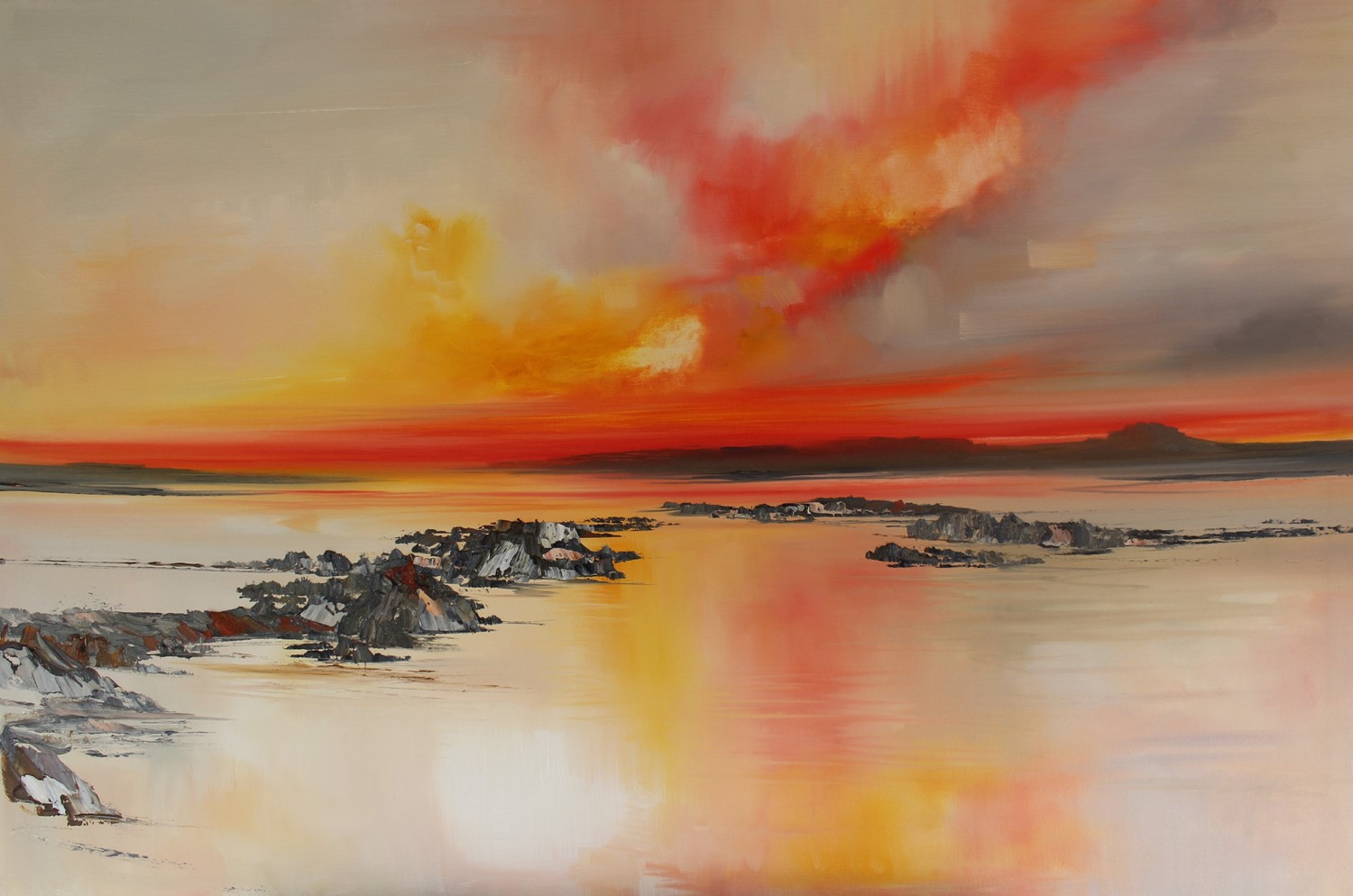 'Like a fire in the sky' by artist Rosanne Barr