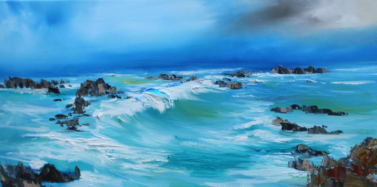 'The swell of the sea' by artist Rosanne Barr