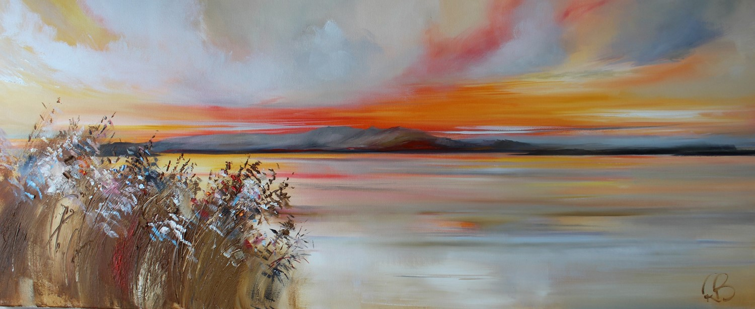 'Beyond the Wildflowers and out to the Isles' by artist Rosanne Barr