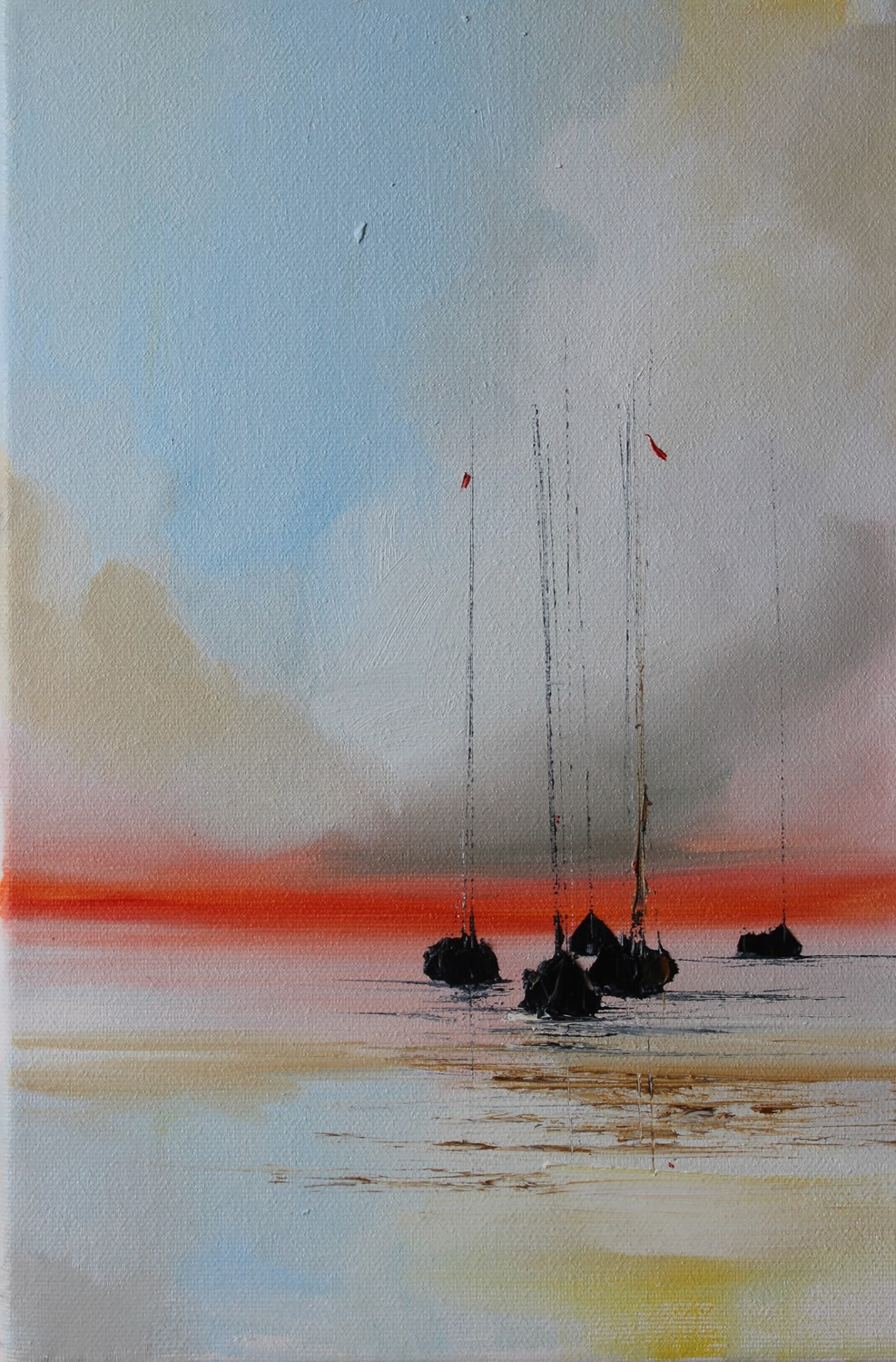 'At the end of the sailing day' by artist Rosanne Barr