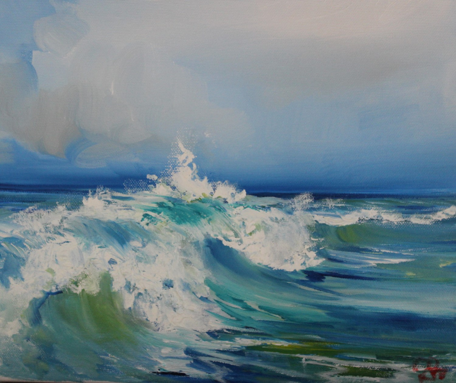 'Frothy Waves' by artist Rosanne Barr