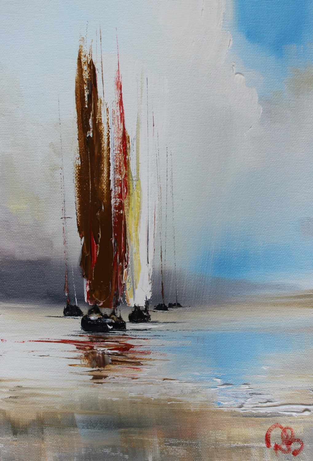 'Sailing in rain showers' by artist Rosanne Barr