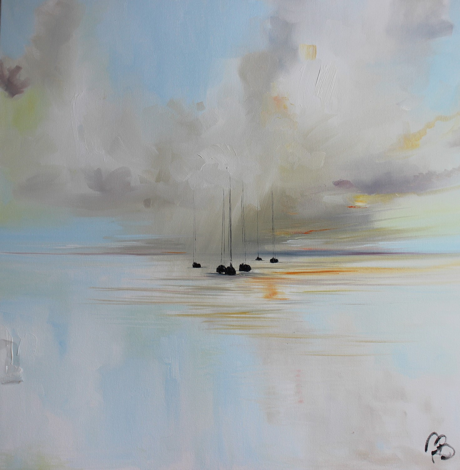'Shifting clouds at sea' by artist Rosanne Barr