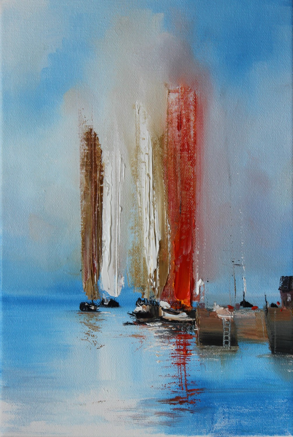 'Coming to port ' by artist Rosanne Barr