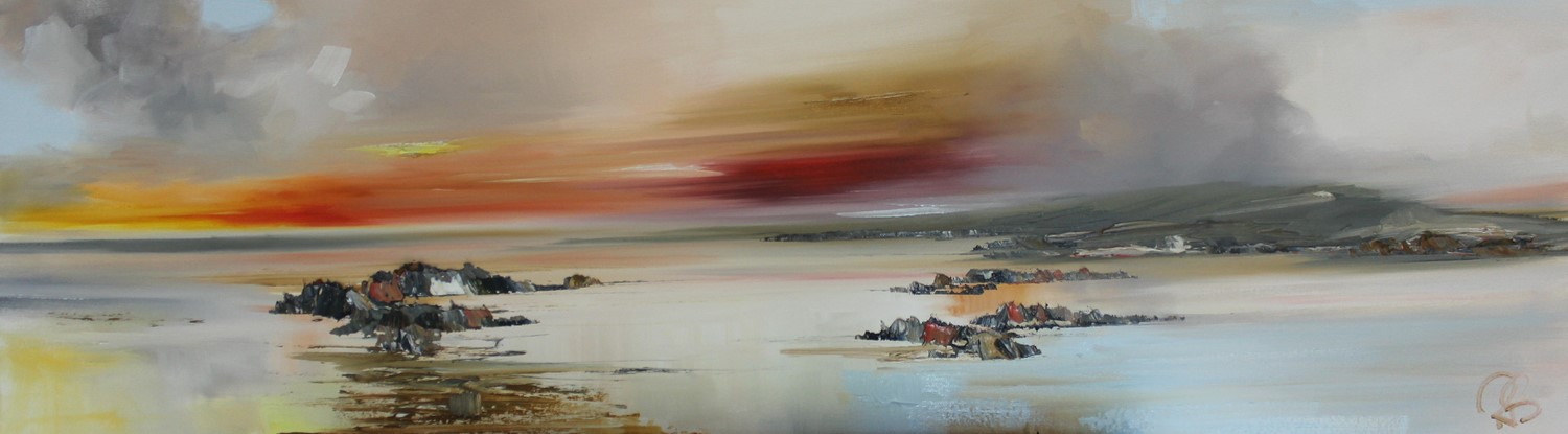'The Clouds looming over that Headland' by artist Rosanne Barr