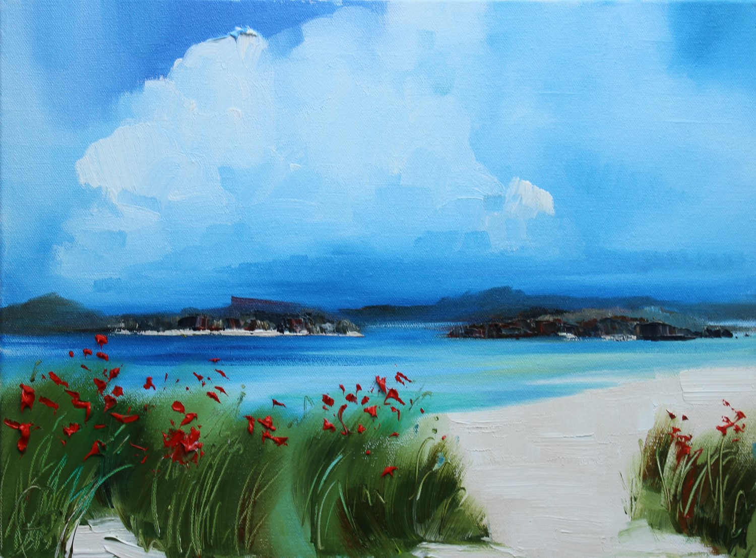 'On a bright summer day' by artist Rosanne Barr