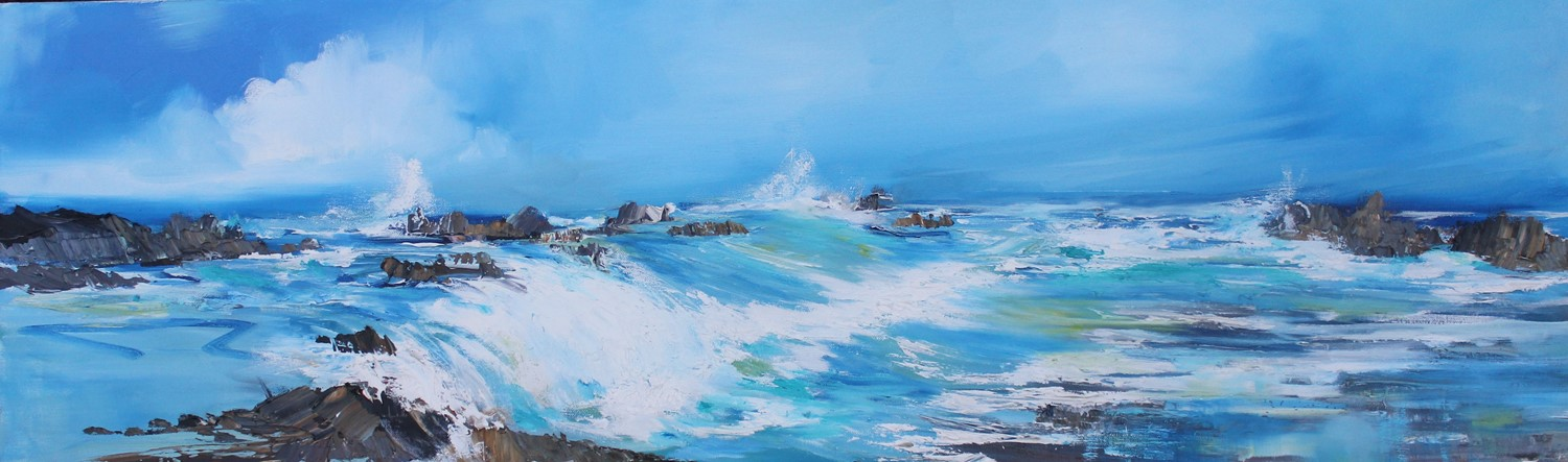 'Surging Seas and Froth' by artist Rosanne Barr