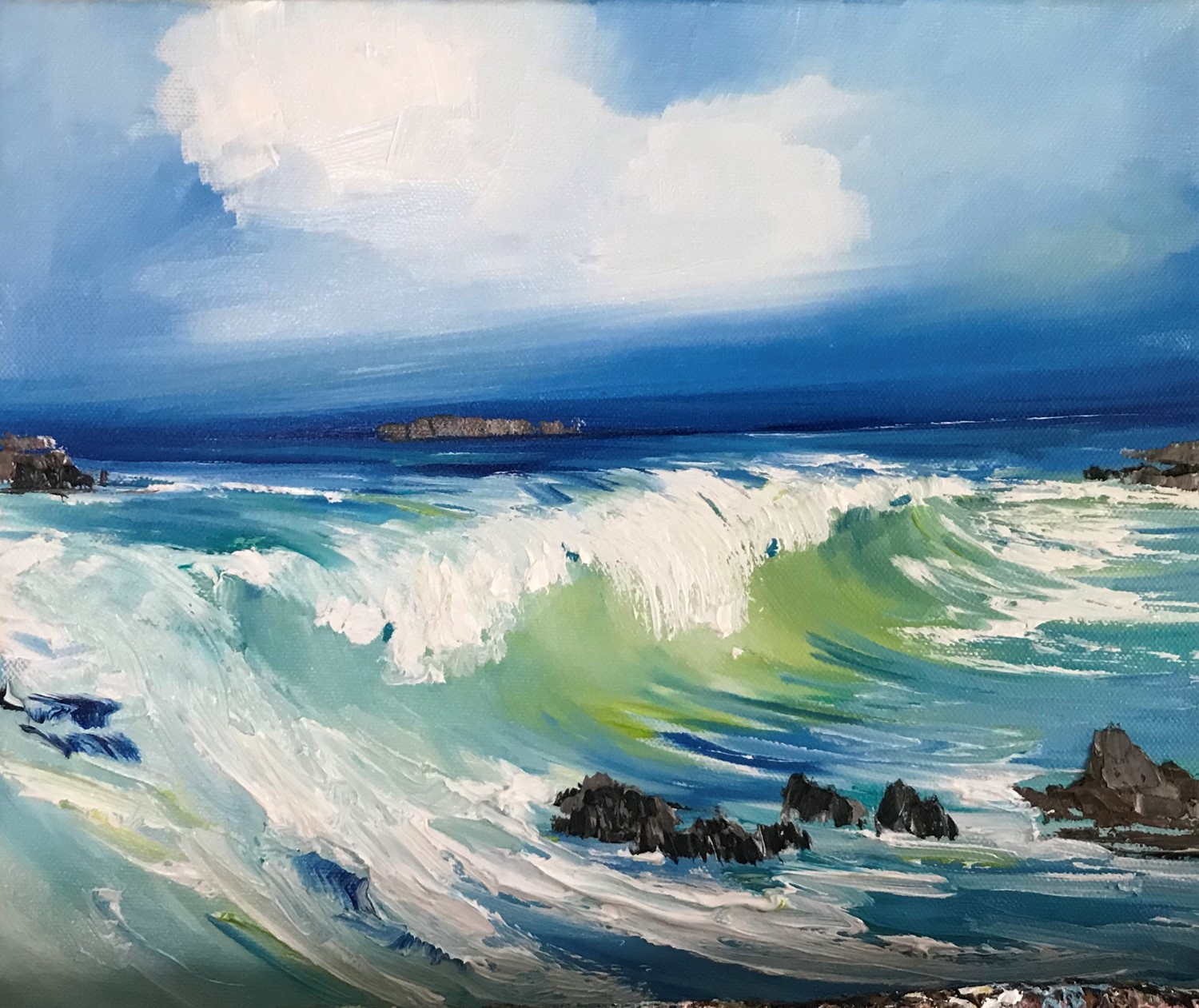 'North Sea Foam and Froth' by artist Rosanne Barr
