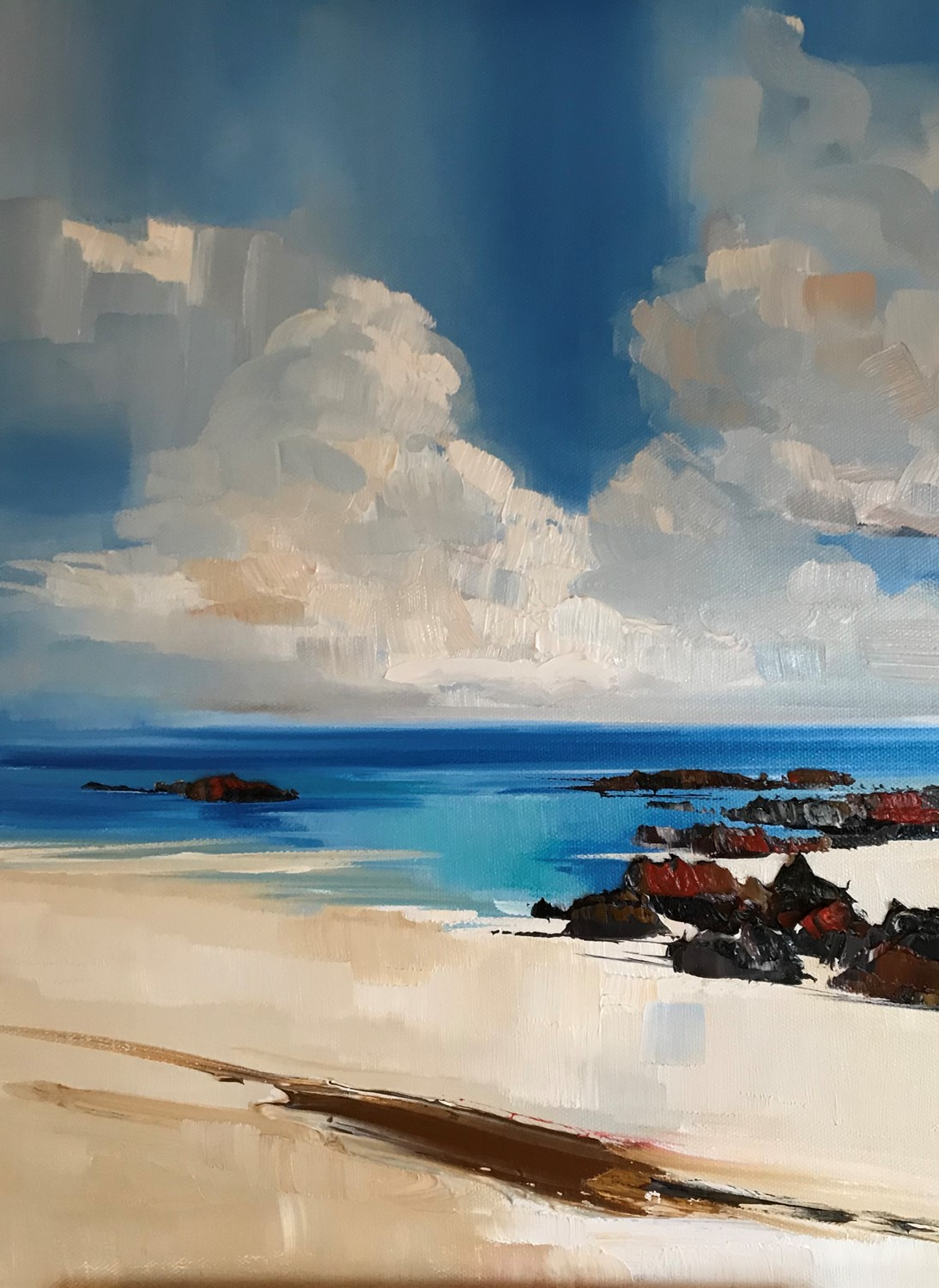 'Capturing the ever changing clouds' by artist Rosanne Barr