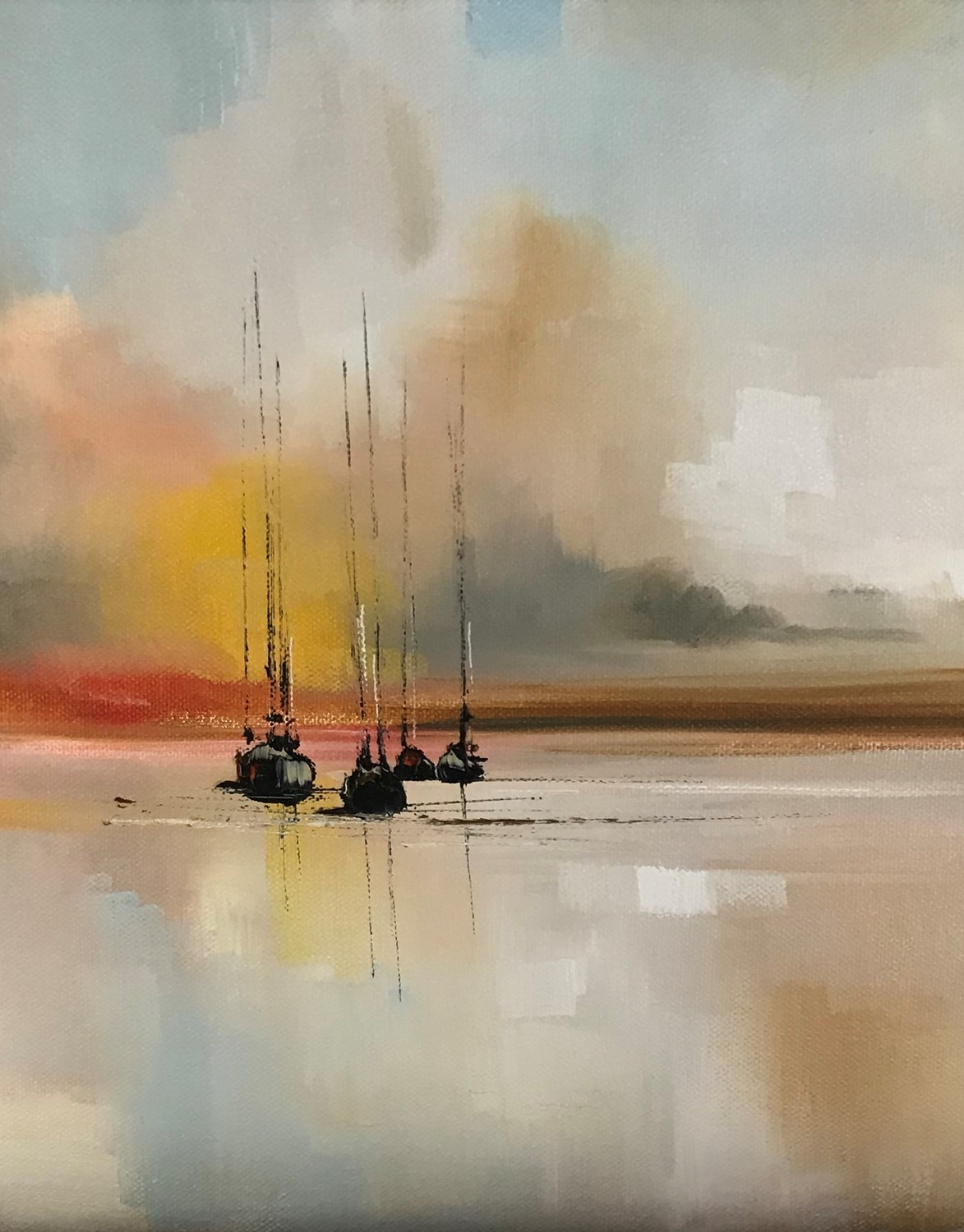 'The Tranquility of nightfall' by artist Rosanne Barr