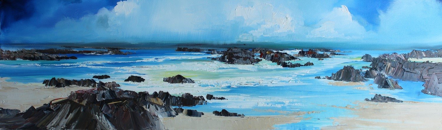 'Clambering and climbing all over the rocks' by artist Rosanne Barr