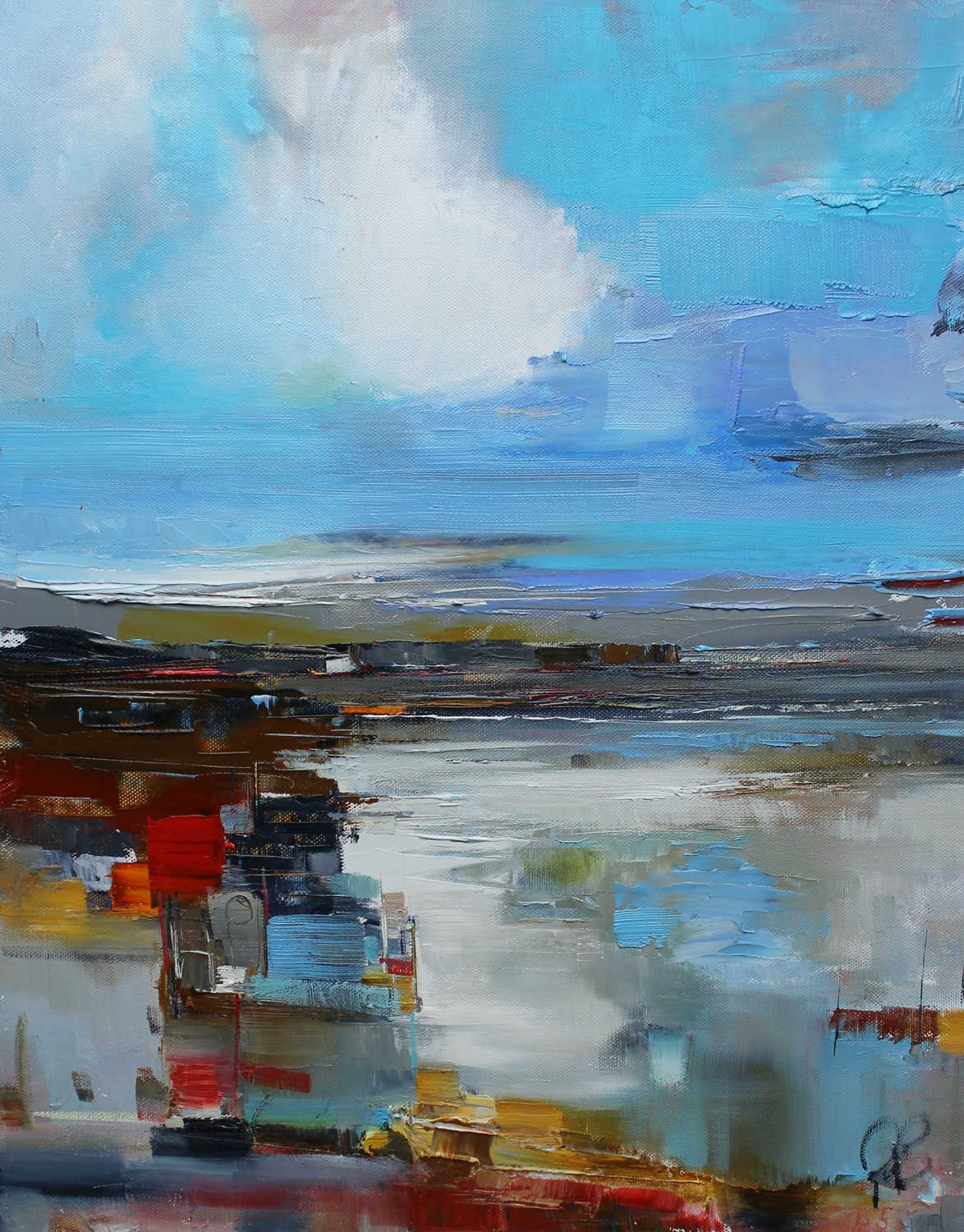 'Exploring the jetty' by artist Rosanne Barr