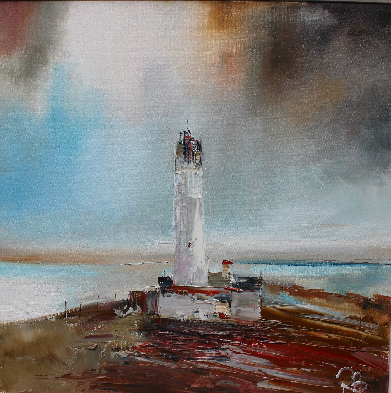 'Lighthouse amid a storm' by artist Rosanne Barr