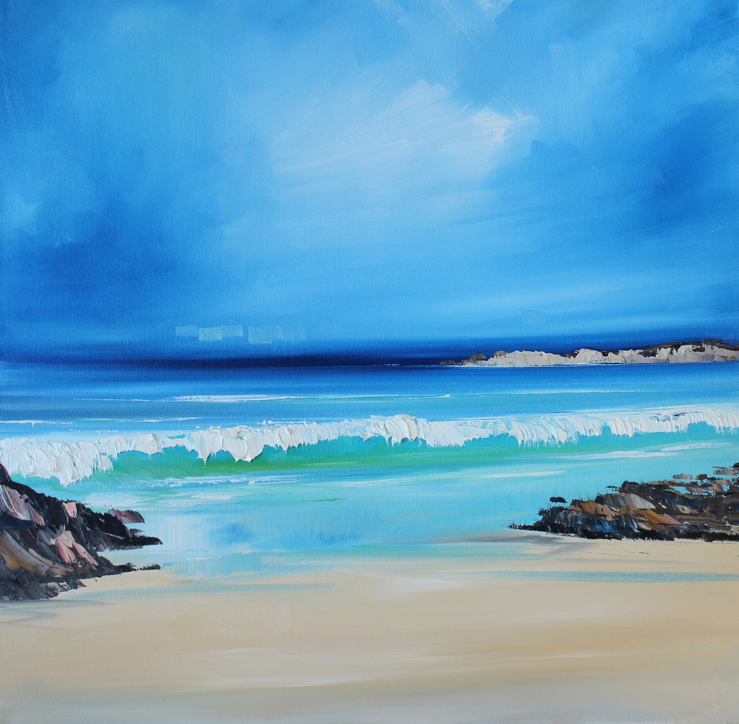 'Where the Sea meets the Shore' by artist Rosanne Barr