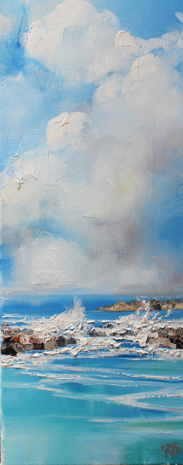 'Double waves' by artist Rosanne Barr