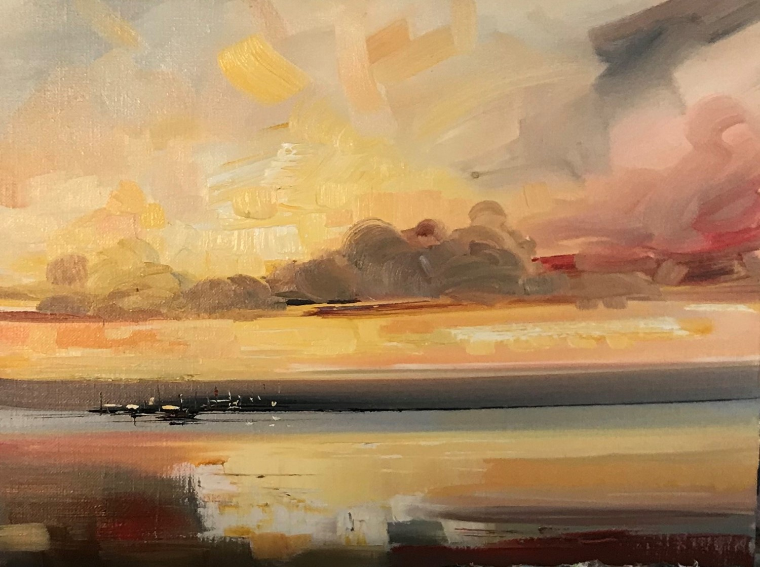 'A Hazy kind of sunset' by artist Rosanne Barr