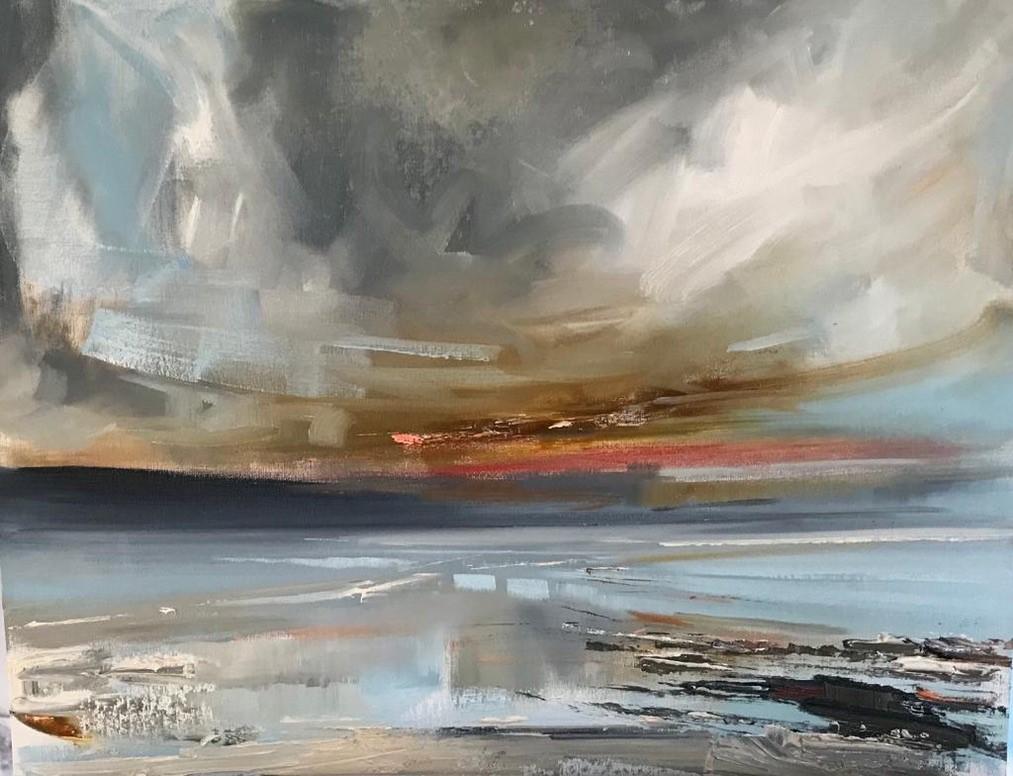 'Marwickhead amid a storm' by artist Rosanne Barr