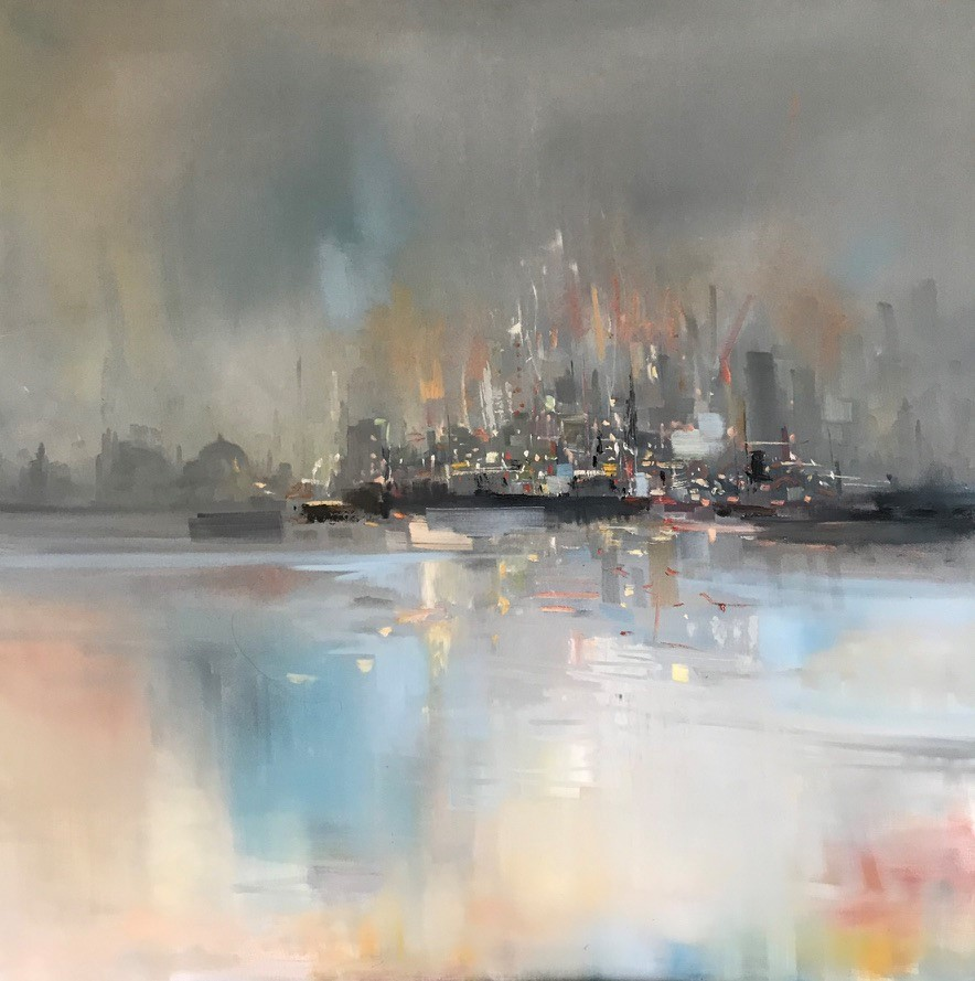 'Watching the City by Night' by artist Rosanne Barr