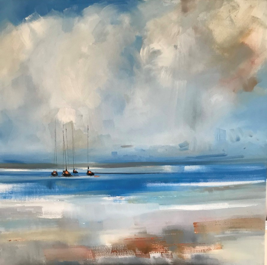 'Yachts and falling light' by artist Rosanne Barr
