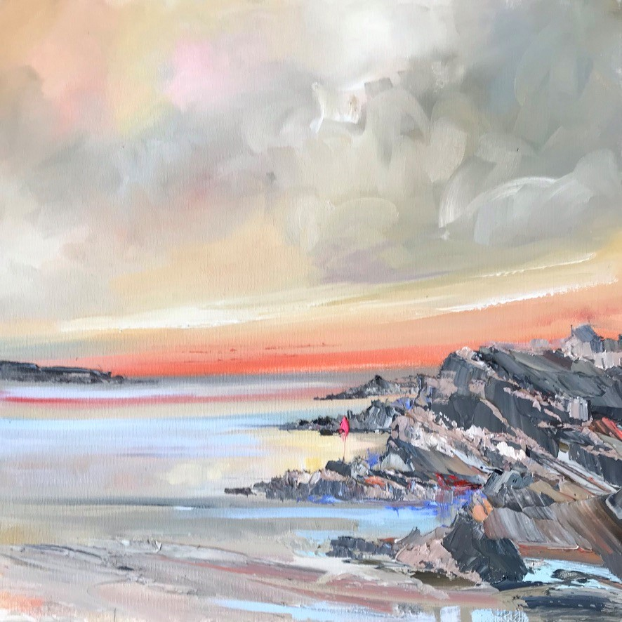 'Up on the rocks' by artist Rosanne Barr