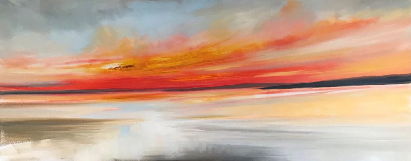 'Glorious Sundown' by artist Rosanne Barr