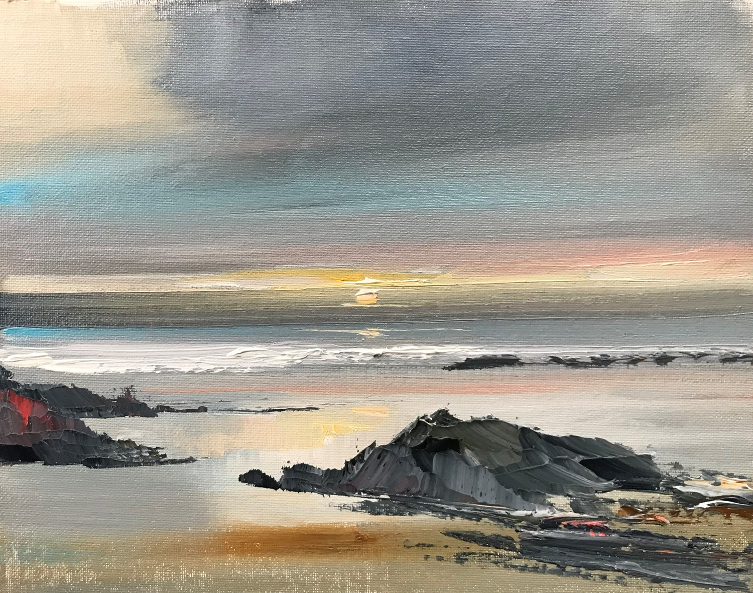 'The last stroll of the day' by artist Rosanne Barr