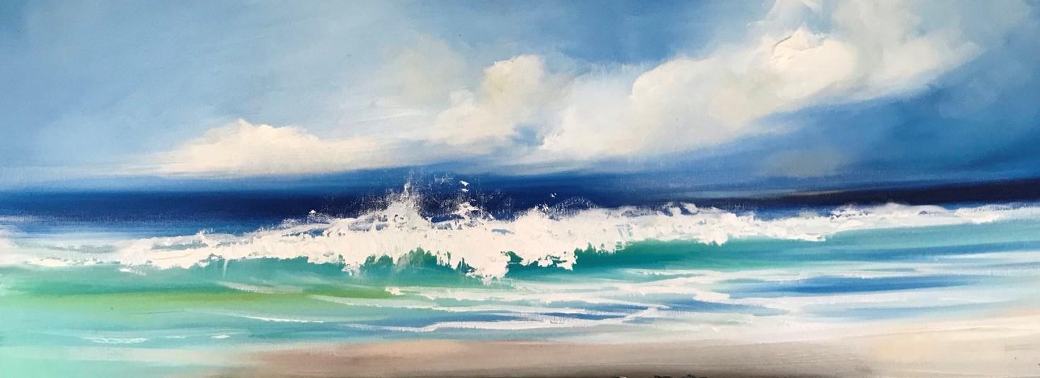 'As the tide rolls in' by artist Rosanne Barr
